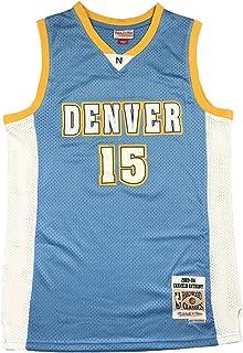 KKSY Herren Trikots Denver Nuggets #15 Carmelo Anthony Basketball Trikots Retro Atmungsaktive Weste