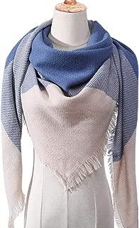 Women Scarf Plaid Winter Cashmere Scarves Shawls Neck Knit Triangle Bandage Foulard