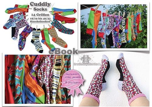 Cuddly Socks Nähanleitung mit Schnittmuster für die ganze Familie in 14 Größen [Download]