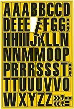 Magnetische letters, cijfers en speciale tekens, borden in verschillende kleuren beschikbaar 43 mm hoch Gele letters