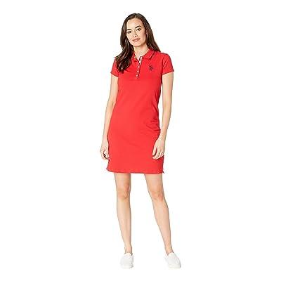 U.S. POLO ASSN. Plain Polo Dress (Racing Red) Women