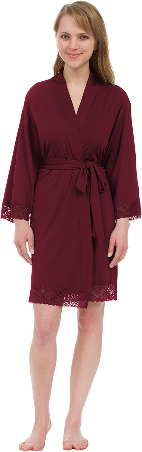 Leisureland Women's Knit Robe, Jersey Robe, Stretch Jersey Robes