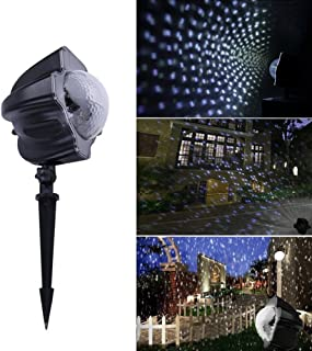 Christmas Lights Moving Snowflakes Projector 3.6W Projection Spotlight Outdoor Lamp for Party Decorator Kids Cartoon Xmas Easter Thanksgiving Birthday Holiday