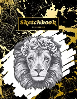 Sketchbook FOR DRAWING SKETCH BOOK FOR ARTISTS - BLANK PAGES: big sketch book for creative heads and animal lover | perfec...