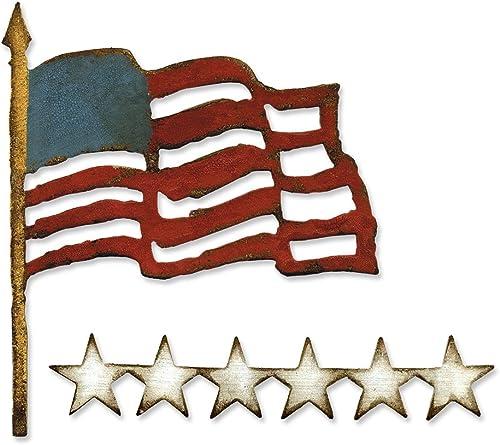 calidad oficial Sizzix Ellison Europe Bigz Die Die Die Old Glory by Tim Holtz  Envío y cambio gratis.