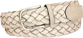 ESPERANTO Cintura uomo donna Intrecciata di Pelle Scamosciata foderata in Cotone altezza 3,5 cm con fibbia nichel free ana...
