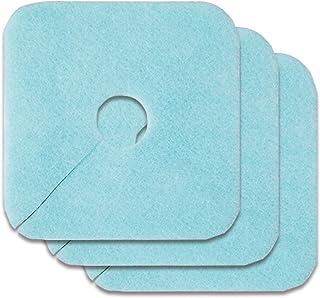コモライフ 排水口カバーフィルター3枚入 抗菌 消臭 簡単装着 虫対策 洗濯機 キッチン 洗面 カット可 ブルー 391179