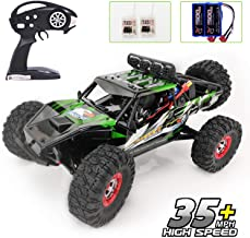 Keliwow Electric RC Buggy 1/12 4WD RC Car,2.4Ghz Radio Remote Control Off Road Truck 35 MPH Monster High Speed Rc Rock Crawler Truck RTR All Terrain Car Brushless Desert Rc Car (07-Green)