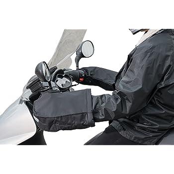 Cincobeb/é Manopole Termici per Manubrio Moto//Scooter,Guanti//Muffole per manubrio moto Invernali,Antivento,Comodi e Caldi,Diametro Apertura Manubrio Piccolo,Marrone