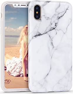 Imikoko iPhone Xs Case, iPhone Xs Matte Marble Case, Slim Soft Flexible TPU Marble Pattern Cover for Apple iPhone Xs/X