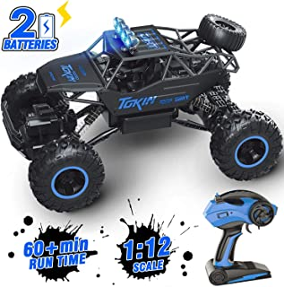 AFUNX Remote Control Car, 1/12 Scale High Speed Racing RC Cars with 2.4Ghz Radio Remote Control, 4WD Off Road RC Car Gifts for All Adults & Kids