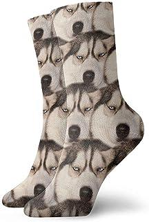 N / A, Calcetines divertidos de siberiano para perros, para hombres, mujeres, niños, trekking, rendimiento, 30 cm