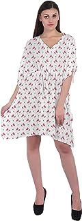 RADANYA Tropical Women's Casual wear Cotton Kaftans Swimsuit Cover up Caftan Beach Short Dress