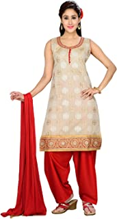 Darshi Fashion Women Silk A-Line salwar suits, (dn1762, Fone Color, 38)