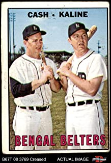 1967 Topps # 216 Bengal Belters Al Kaline/Norm Cash Detroit Tigers (Baseball Card) Dean`s Cards 1.5 - FAIR Tigers