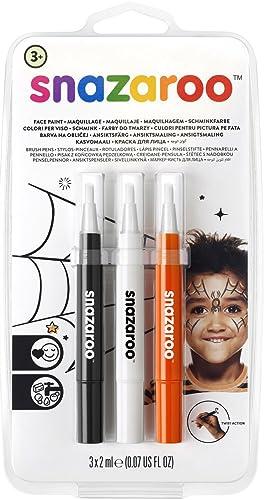 "Snazaroo Set de 3 Rotuladores de Maquillaje ""Halloween"", color negro, blanco, naranja product image"