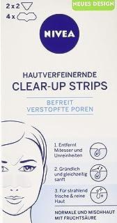Nivea Clear-Up Strips, Voor Huidverfijning En Mee-Eters, 1X4 Neusstrips En 2 X 2 Voorhoofd-/Kinstrips