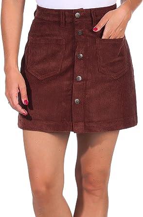 Only Onlamazing HW Corduroy Skirt Pnt Noos Falda para Mujer