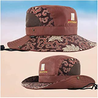 FX Fisherman Hat Men's Summer Sunshade Spring and Autumn Sun Protection Hat UV Protection Mountaineering Fishing Tourist Male Hat (Color : Brown)