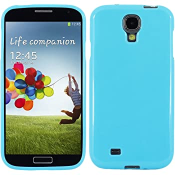 ebestStar - Funda Compatible con Samsung S4 Galaxy i9500 i9505 Carcasa Transparente Silicona Gel Estuche Flexible, Azul [Aparato: 136.6 x 69.8 x 7.9mm, 5.0]: Amazon.es: Electrónica