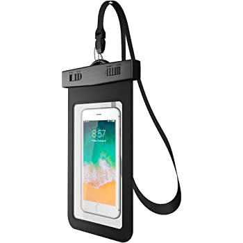 Funda Impermeable de iPhone a Prueba de Agua. Color Negro. Bolsa Impermeable y Protector contra Agua. Compatibilidad Universal: iPhone, Samsung Galaxy, Huawei. Waterproof Case. (Negro)