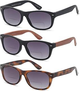 Gamma Ray Bifocal Sunglasses for Men and Women - 3 Pairs Sun Readers Sunglasses