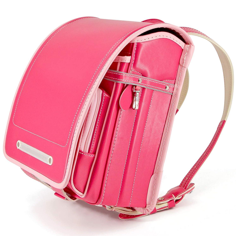 似ているあなたは印象的な軽量 2019年最新モデル ランドセル 女の子 高級合皮 自動ロック A4フラットサイズ 大容量 防水仕上げ japanese schoolbag 通学 入学お祝い 小学生通学鞄 5色展開 6年間保証 (ピンク)【バオバブの願い】
