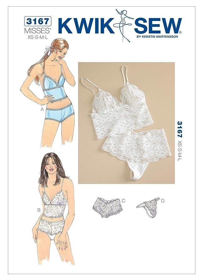 Kwik Sew Pattern 3167 Camisoles and Panties Size XS-L