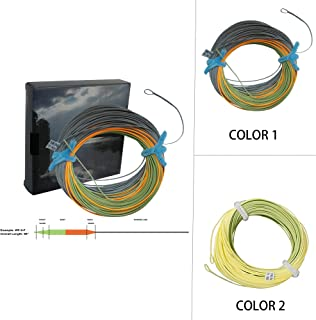 Aventik Tri-Tone Weight Forward Fly Fishing Floating Line Percerption Line Ultra Low Stretch Core Loops Line Loading Zoom Welded Loops Line ID