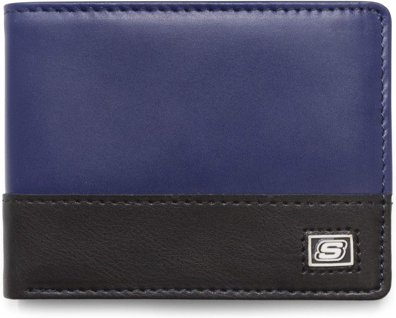 Skechers Men's Slimfold RFID Leather Wallet