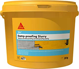Sika Damp-Proofing Slurry - Ready To Use Damp-Proofing and Waterproofing Coating, Grey, 20 kg