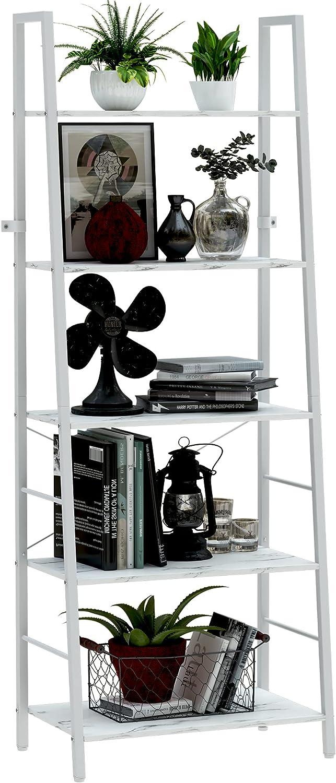 Yusong Ladder price Shelf Industrial Outstanding 5-Tier Standing Free Bookshelf Bo