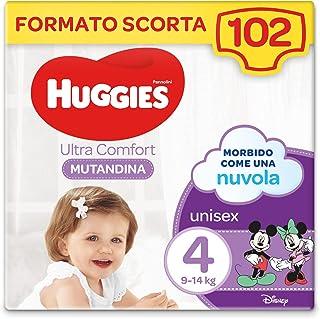 Huggies Ultra Comfort luierbroek, maat 4 (9-14 kg), 102 stuks