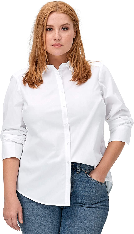 ellos Women's Plus Size Button Down Shirt