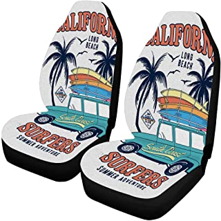 INTERESTPRINT Philippine Flowers Rainfores Auto Seat Protector 2 Pack, Bucket Seat Protector Car Seat Cushions for Car, SUV, Truck or Van