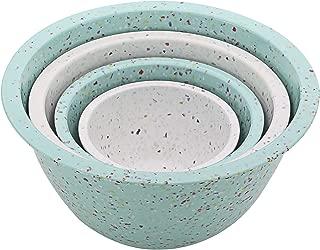 ZAK Designs 4-Pc. Nested Mixing Bowl Set, Mint & White.