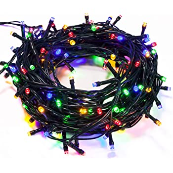 200 Red LED Berry Lights 7 Flashing Effects /& Static Christmas Tree Fairy Light