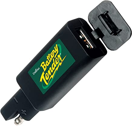 Battery Tender 081-0158 Quick Disconnect Plug with USB Charger Perfect for Charging Your iPhone, iPad, iPod, GPS, Camera or Any Smartphone or Device That be Charged via USB, One Size, Black