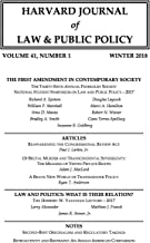 Harvard Journal of Law & Public Policy, Volume 41, Issue 1 (Pages 1 - 442)
