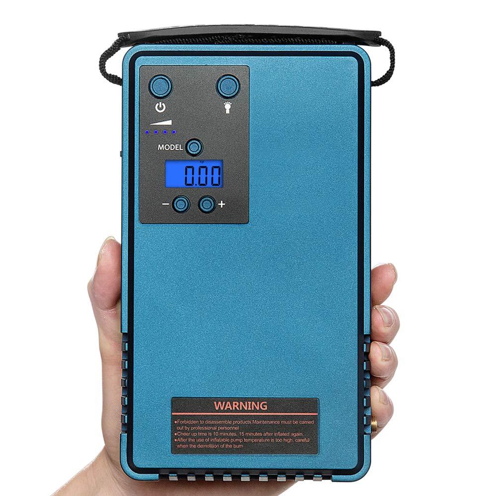 Jump starter & Compresor de aire, energía neumático manómetro digital móvil,con 10200MA de capacidad de la batería, la máxima corriente de salida es 500A, presión de salida es 85PSI: Amazon.es: Coche y