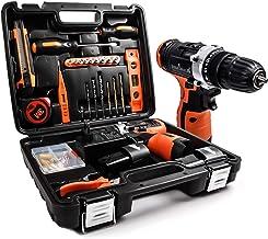 LETTON Caja Herramientas, 16.8V Taladro destornillador inalámbrico+ 2 baterías de litio, 48pc Kit de Reparación Conjuntos Bricolaje para Casa y Oficina