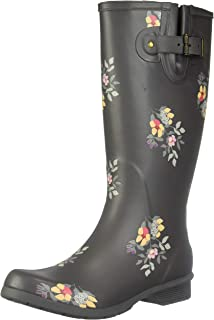 Chooka Women's Tall Memory Foam Rain Boot, Bailey, 6 M US