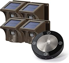 1/2 Mile Long Range Solar Wireless Driveway Alarm Outdoor Weather Resistant Motion Sensor & Detector-Security Alert System...