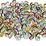 200 Pièces Perles Rondelles de Couleur Mélangée, 10 Couleurs pour la Fabrication de Bijoux