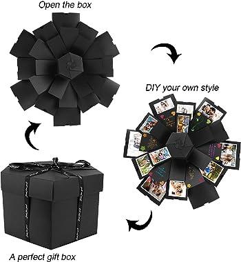 Gifort Boite Surprise, Creative DIY Surprise Explosion Box, DIY Mémoire Box Album Photo Scrapbook pour Cadeau Anniversaire Ma