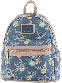 Disney Stitch & Scrump Floral-Print Mini Backpack