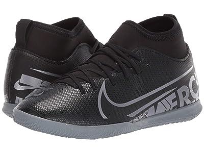Nike Kids Jr Superfly 7 Club IC Soccer (Little Kid/Big Kid) (Black/Metallic Cool Grey/Cool Grey) Kids Shoes