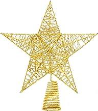 12 Inches Glittered Kerstboom Topper Star Treetop for Kerstboom Decor van het Huis (Gold) zcaqtajro