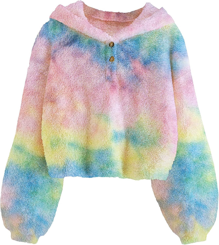 GAMISOTE Girls Fleece Hoodies Discount is also underway Cute Tie Manufacturer direct delivery Oversized Dye Crop Tops J