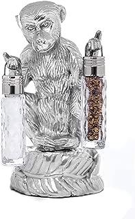Arthur Court Designs Aluminum Monkey Stand for Glass Hanging Salt and Pepper